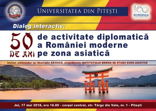 17 MAI 2018 INTREVEDERE INTERACTIVA LA UNIVERSITATEA DIN PITESTI