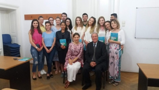 IRSEA's President invited to meet students of the University of Bucharest