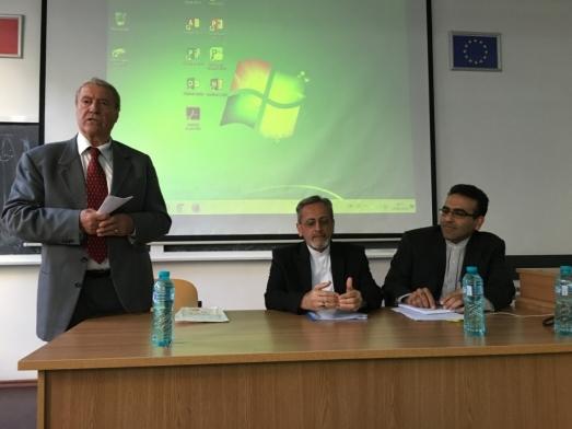 H.E.Ambassador Hamid Moayyer delivers