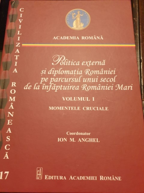 IRSEA's President and Founder, H.E. Ambassador Gheorghe Săvuică contributes to two edited volumes on Romania's Foreign Affairs, marking the Cetennial of the Great Union of Romania