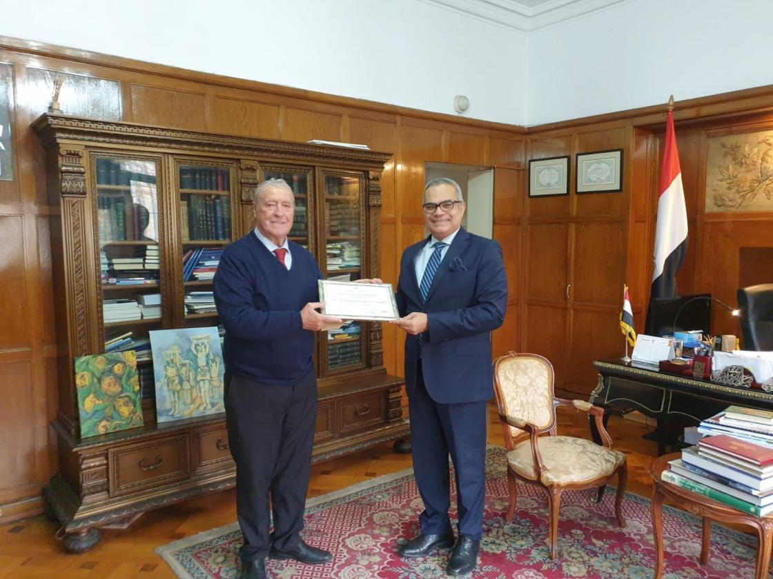 IRSEA grants Honorary Membership Award to H.E. Egyptian Ambassador Salah A. El-Sadek