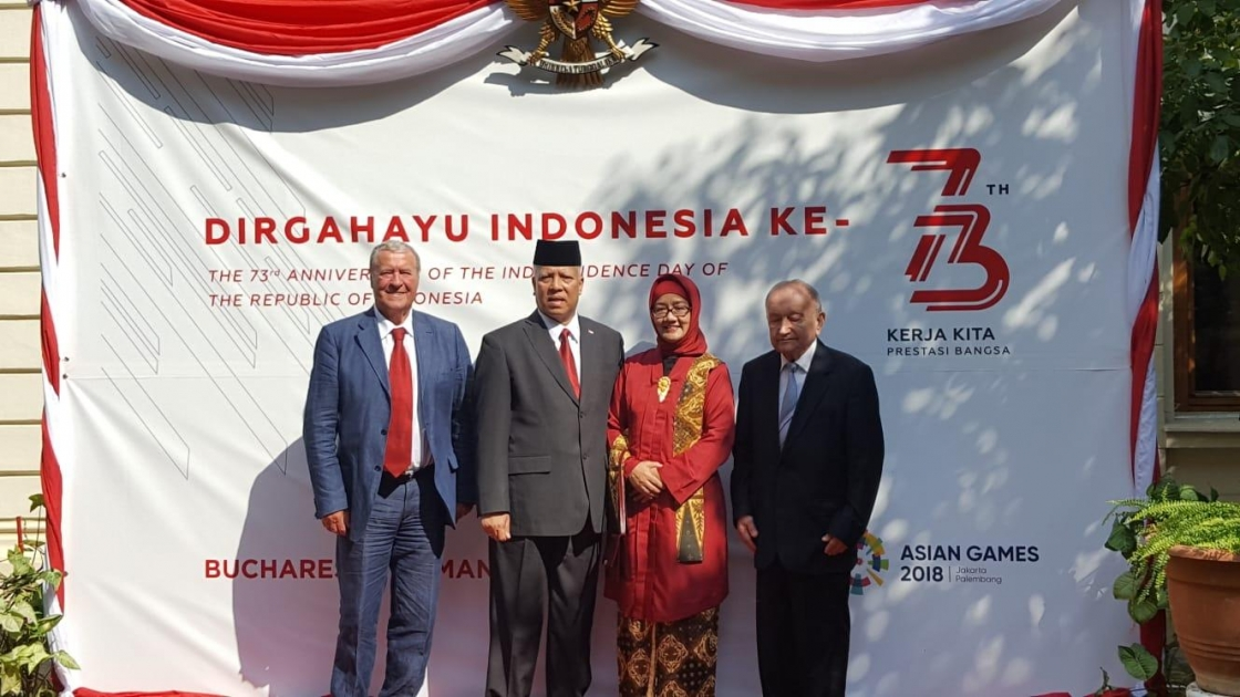 IRSEA's President and Founder, H.E. Ambassador Gheorghe Săvuică, attends reception marking 73rd Anniversary of the Founding of Republic of Indonesia