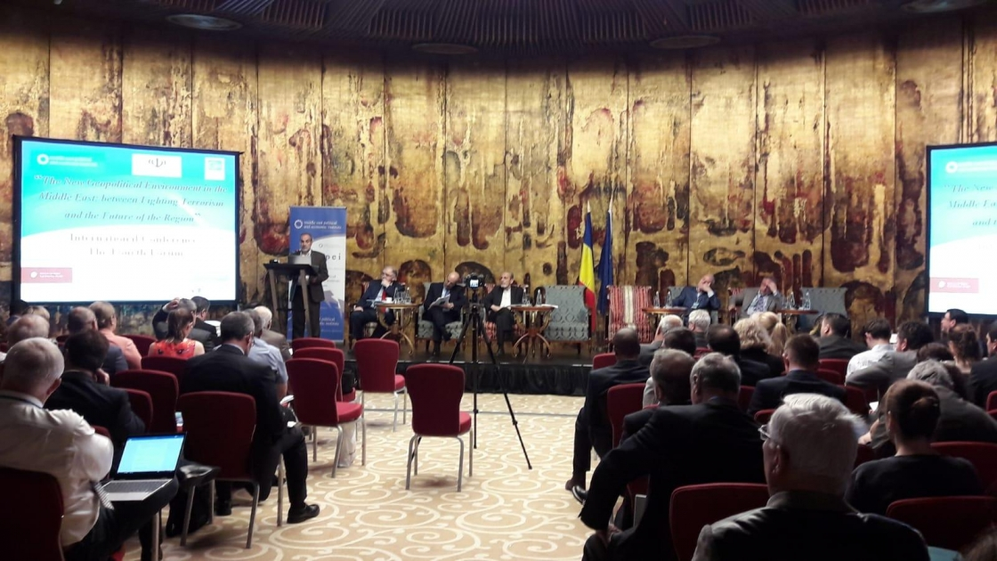 """IRSEA's President and Founder, H.E. Ambassador Gheorghe Săvuică, participates at the """"New Geopolitical Environment in the Middle East: Between Fighting Terrorism and the Future of the Region"""" Forum"""