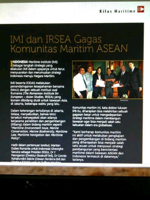 Honorary Advisor of the  Institute of Defence and Security Studies Indonesia - IODAS