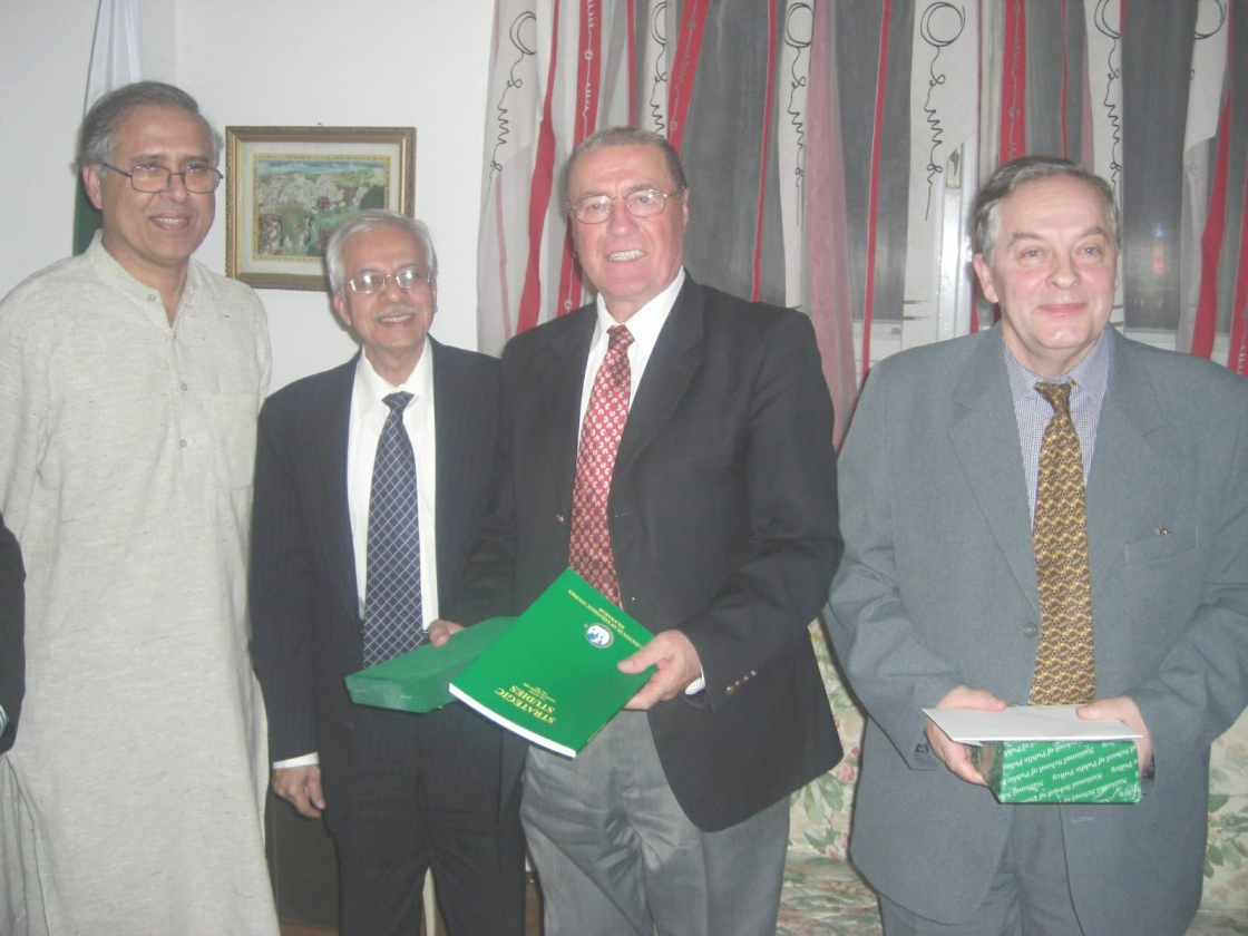 H.E. Ambassador (p) Gheorghe Săvuică, IRSEA's President and Founder, Accompanied by Prof. Ilie Şimon, Vice-President and Co-founder,  Meets Pakistani High Functionaries of the National School of Public Policy
