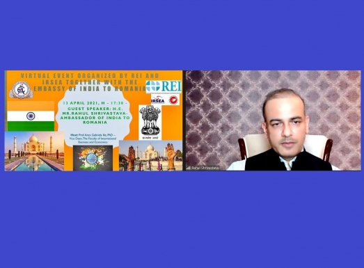Ambassador Shrivastava Holds Webinar on India's Foreign Policy for ASE Postgraduates