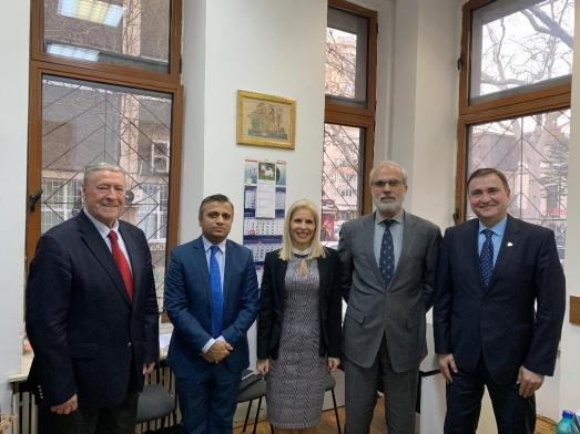 H.E Ambassador Safdar Hayat delivers