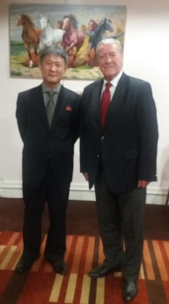 The participation of President of IRSEA, ambassador (p) Gheorghe Săvuică, at the exhibition of Popular Art from R.P.D. Korean